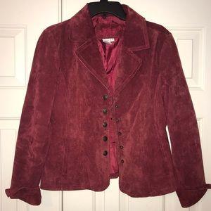 EUC Live a Little 100% Leather Jacket Size M.
